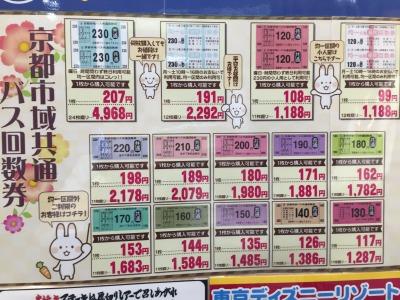 北大路ビブレ店(チケット専門店)京都と言えばバス!各種回数券を豊富に取り揃えています!
