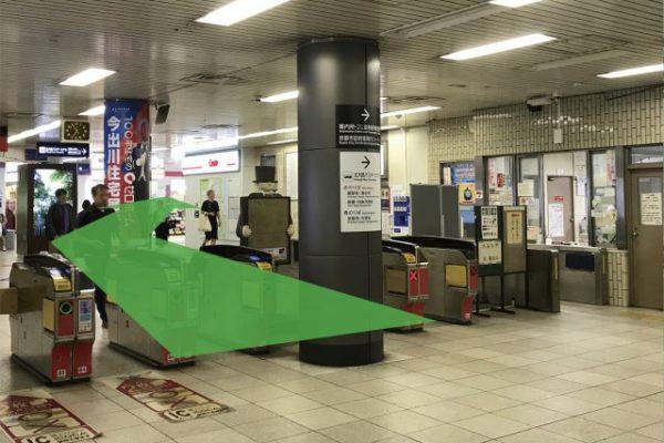 北大路ビブレ店(チケット専門店)②③④⑤⑥出口のある南改札を出て右に曲がります。