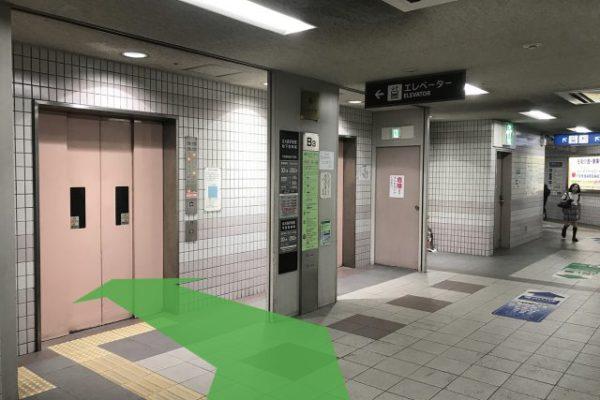 北大路ビブレ店(チケット専門店)左手にエレベーターがありますので1階まで上がります