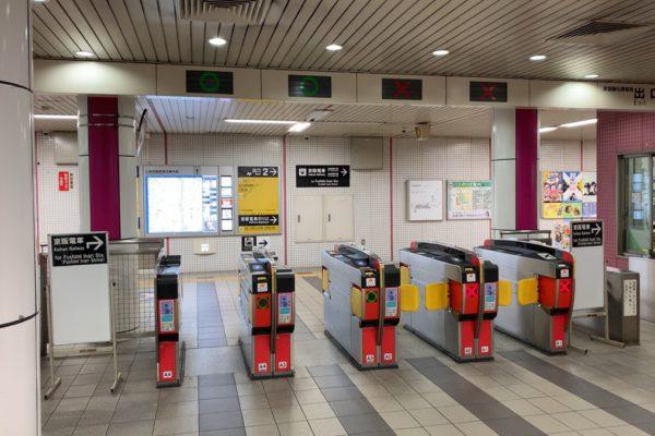 三条河原町店地下鉄三条京阪駅からは改札を出て右に曲がります。