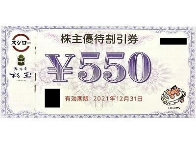 スシロー株主優待券③
